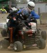 Ken Jones of the K&amp;N Filters Lawn Mower Racing Team.